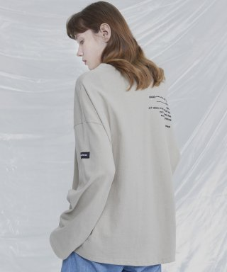 아더사이드(otherside) [UNISEX]THE OTHER BASIC LONGSLEEVE TEE (SAND BEIGE)