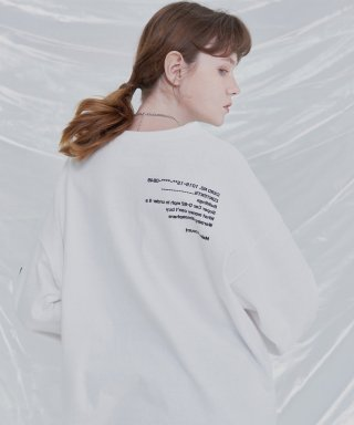 아더사이드(otherside) [UNISEX]THE OTHER BASIC LONGSLEEVE TEE (IVORY)
