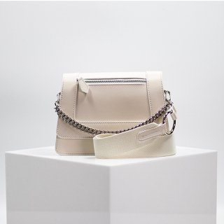 에코루(ecoroo) [TYCHE] Small Cross Handbag - Sweet Corn