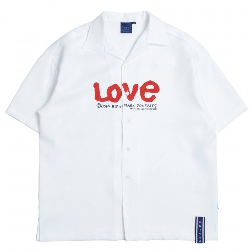 로맨틱크라운(ROMANTIC CROWN) [R.C X M.G]WITH LOVE Souvenir Shirts_White