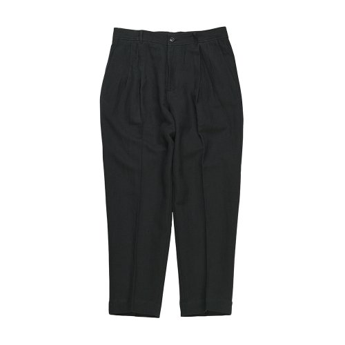 비슬로우 스탠다드(BESLOW STANDARD) 19SS LINEN LOOSE FIT PANTS BLACK