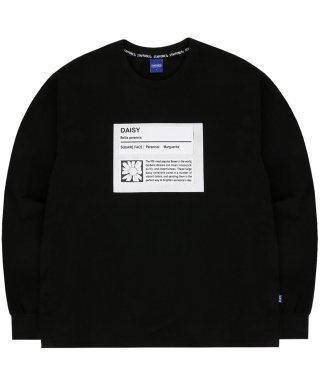 스텝온리(staffonly) FLOWER SAMPLE LONG SLEEVE (BLACK)