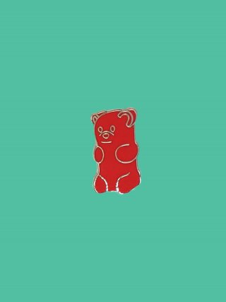 핀덱스(pindex) RED GUMMY-BEAR 핀 뱃지