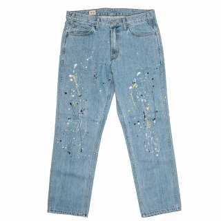 공백(gongbaek) Regular Standard Denim_ Splatter Paint