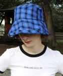 [unisex]19CHECK BLUE/BLACK BUCKET HAT