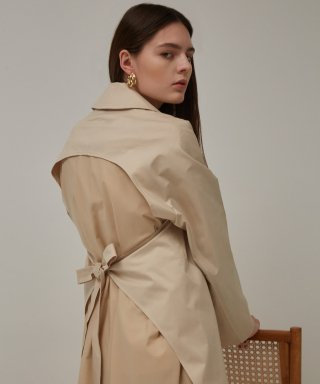 뮤게(muguet) STRING SLIT TRENCH COAT (BEIGE)
