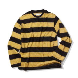 킹(king) Mohair Striped Sweater (Mustard)