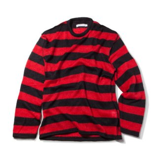 킹(king) Mohair Striped Sweater (Red)
