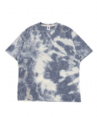 어낫띵(anothing) TIE-DYE DROP-SHOULDER 1/2 TEE (Navy)