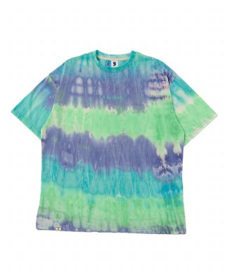어낫띵(anothing) TIE-DYE DROP-SHOULDER 1/2 TEE (Blue)