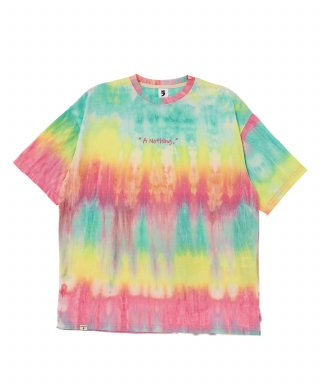 어낫띵(anothing) TIE-DYE DROP-SHOULDER 1/2 TEE (Pink)