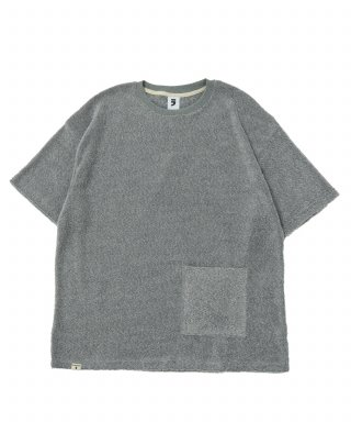 어낫띵(anothing) SOFT TOWEL POCKET 1/2 TEE (Gray)