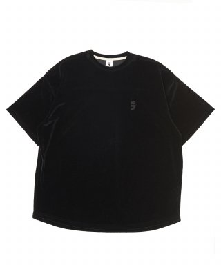 어낫띵(anothing) DROP-SHOULDER VELVET 1/2 TEE (Black)