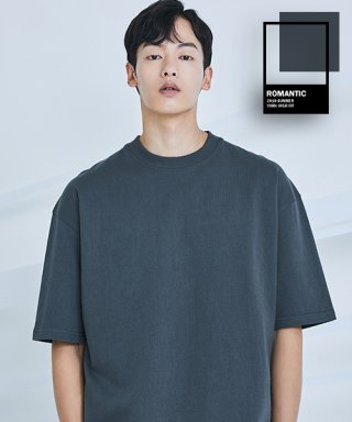 로맨틱 파이어리츠(romanticpirates) YORK OVER FIT T-SHIRT(TUNGSTEN GRAY)