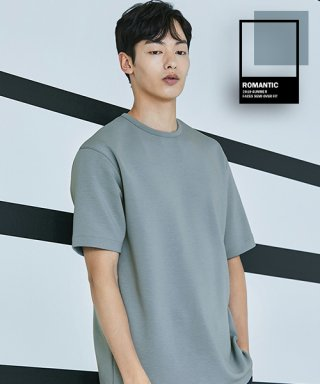 로맨틱 파이어리츠(romanticpirates) FACES SEMI OVER FIT T-SHIRT(MINT BLUE)