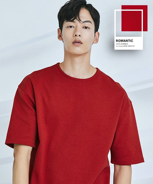 로맨틱 파이어리츠(ROMANTICPIRATES) C.r.e.a.m SEMI OVER FIT T-SHIRT(RED)