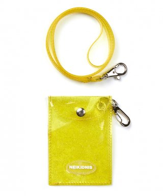 네이키드니스(neikidnis) GLITTER CARD WALLET / YELLOW