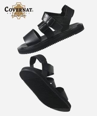 커버낫(covernat) NOMAD LEATHER SANDALS BLACK