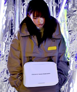 "씨오엠이(come) [UNISEX] ""LHR"" Hooded Anorak Jacket (Beige)"