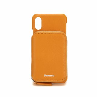 페넥(fennec) LEATHER iPHONE X/XS MINI POCKET CASE - MANDARIN