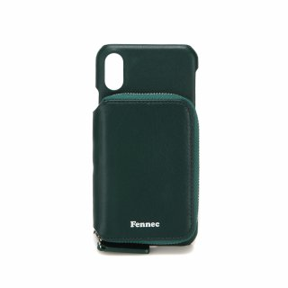 페넥(fennec) LEATHER iPHONE X/XS MINI POCKET CASE - MOSS GREEN