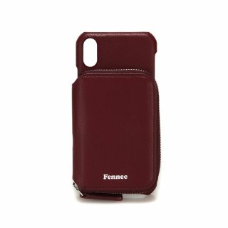 페넥(fennec) LEATHER iPHONE X/XS MINI POCKET CASE - WINE