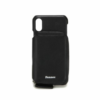 페넥(fennec) LEATHER iPHONE X/XS MINI POCKET CASE - BLACK