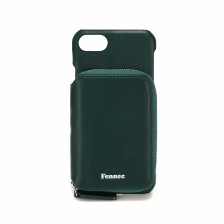 페넥(fennec) LEATHER iPHONE 7/8 MINI POCKET CASE - MOSS GREEN