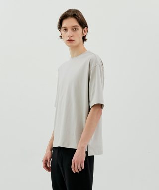 커렌트(current) SEMI OVER FIT TEE MEN [GREY]