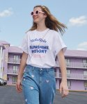 로라로라(ROLAROLA) (TS-19331) SUNSHINE RESORT T-SHIRT WHITE