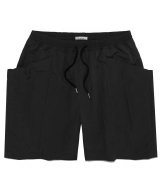 페이브먼트(pavement) TWO POCKET SHORTS IS [BLACK]