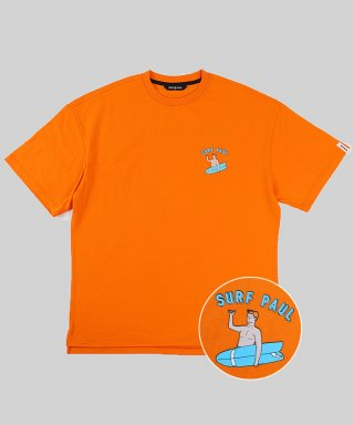 스파이폴(spypaul) SURF PAUL LAYERED T-SHIRT -ORANGE-