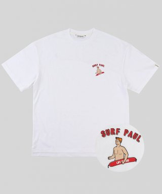 스파이폴(spypaul) LIFE GUARD PAUL LAYERED T-SHIRT -WHITE-