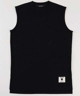 스파이폴(spypaul) SLIM LAYERED SLEEVELESS -BLACK-