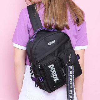 핍스(peeps) advance2 sling bag(black)