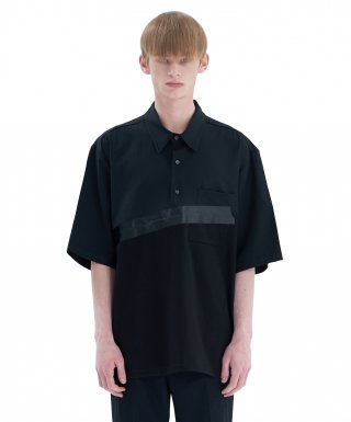 에드(add) BOX TAPE SHIRT A BLACK