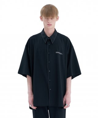 에드(add) STITCH AVANTGARDE SHIRT BLACK