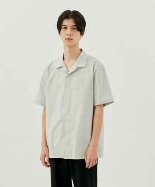 커렌트(current) SHORT SLEEVE SHIRT MEN [MINT GREY]
