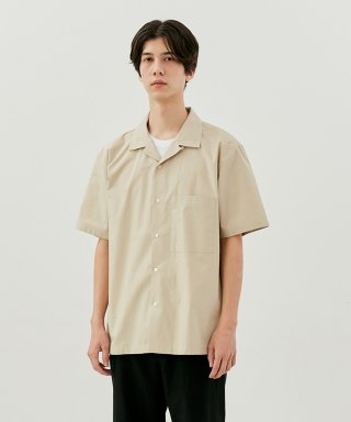커렌트(current) SHORT SLEEVE SHIRT MEN [BEIGE]