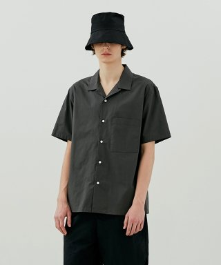 커렌트(current) SHORT SLEEVE SHIRT MEN [CHARCOAL GREY]