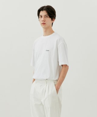 커렌트(current) LOGO TEE MEN [WHITE]