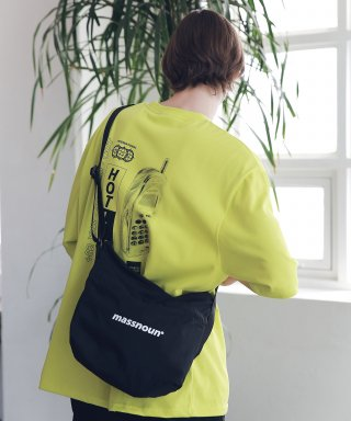 매스노운(massnoun) SL LOGO 2WAY COMPACT BAG MSNAB003-BK