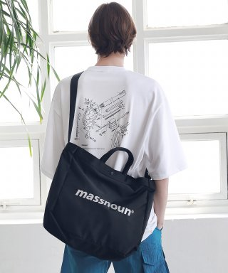 매스노운(massnoun) SL LOGO 3M 2WAY SHOULDER BAG MSNAB002-BK