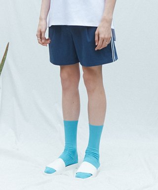 뮤게(muguet) SIDE POINT SHORT PANTS (BLUE)
