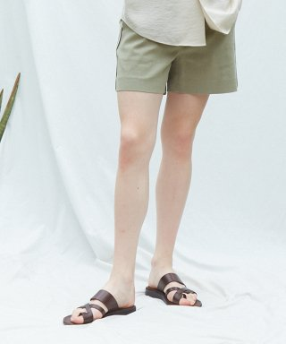 뮤게(muguet) SIDE POINT SHORT PANTS (KHAKI)