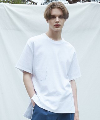 뮤게(muguet) BLOCK DRAWING T-SHIRTS (WHITE)