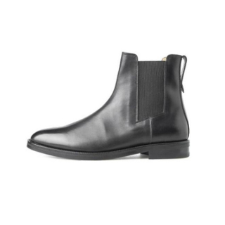 컬러콜라(colorcolla) BLACK LEATHER CHELSEA BOOTS