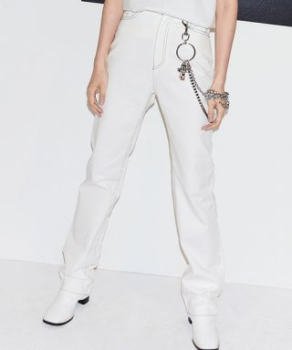 엔조 블루스(enzoblues) BOOTCUT DENIM PANTS (WHITE)