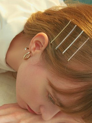 포스트루드(postlude) [4SET] LINESTONE HAIR PIN SET