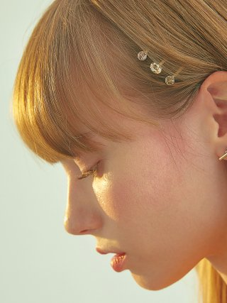 포스트루드(postlude) [4SET] MULTI STONE HAIR PIN SET (GOLD)